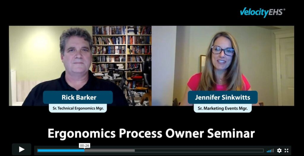Coming Soon! Ergonomics Process Owner Virtual Seminar Series article image